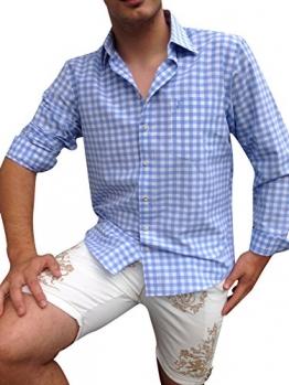 Trachtenhemden Blau Weiß Karo