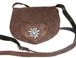Kabe Damen Trachtentasche velour braun