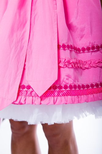 Krüger MADL Damen Dirndl Kleid 48095, Mini, Gr. 38, Mehrfarbig (pink 35)