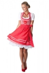 Ludwig & Therese Trachten Dirndl-Set Rosalie rot/weiss mini