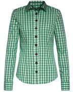 Trachten-Bluse von LODENFREY in grün und weiß