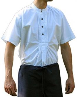 Trachtenhemd kurzarm weiß