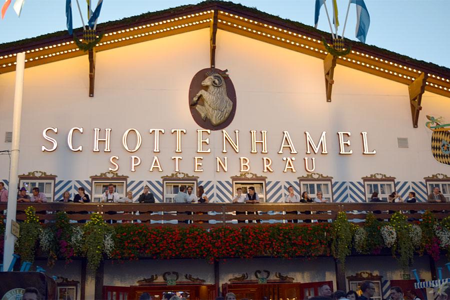 Schottenhamel Festzelt Wiesn 2015 Aussenansicht