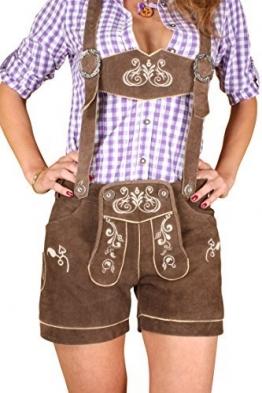 Damen Trachten Lederhose kurz, braun
