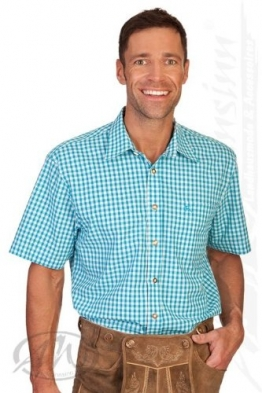 Trachten Herren Hemd mit 1/2-Arm