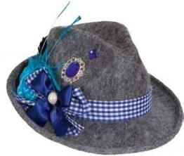 Hut Hannerl, grau-blau