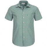 Kurzarm Trachtenhemd, dunkelgrün