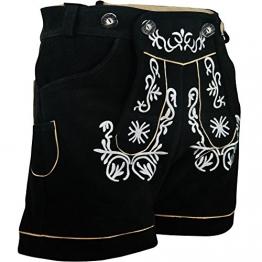 Damen Trachten Lederhose, schwarz