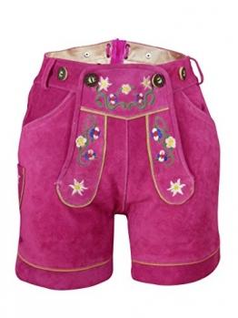 Damen Trachten Lederhose, pink