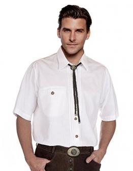 Trachtenhemd Herren Kurzarm, weiß