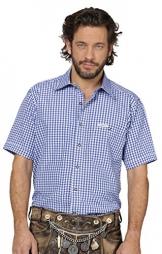 Trachtenhemd Karo Renko, blau