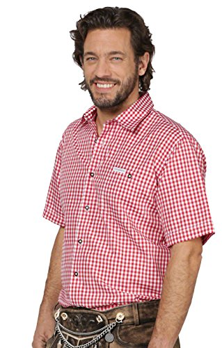 Trachtenhemd Karo Renko, rot