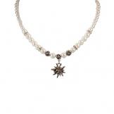 Alpenflüstern Edelweiß-Trachten-Perlenkette Fiona klein creme-weiß